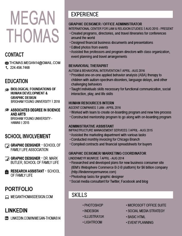 resume megan thomas